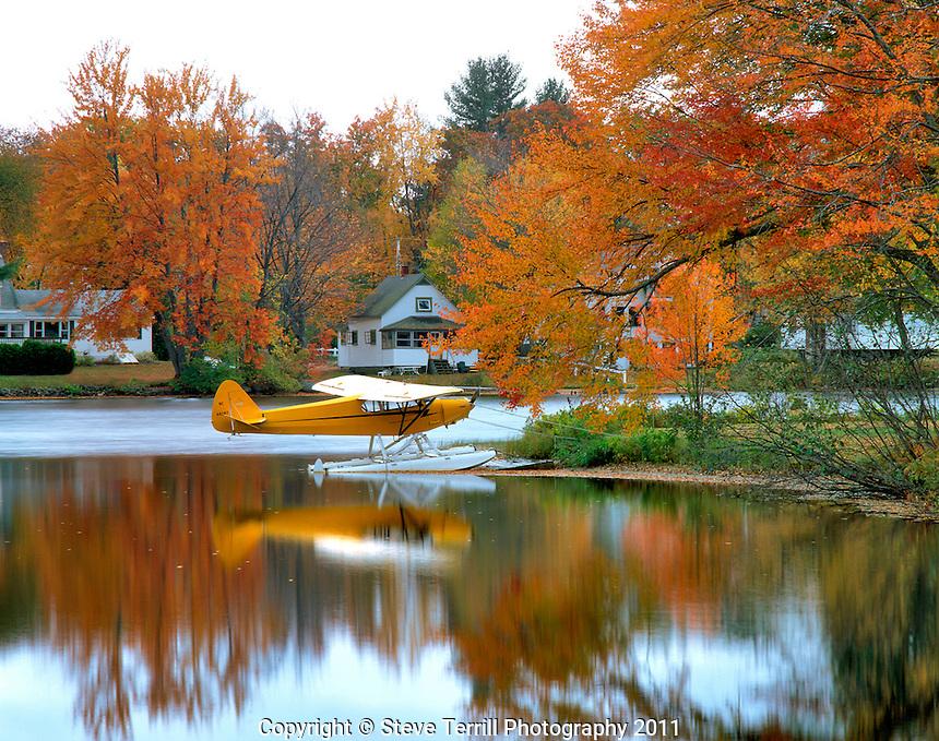 Float plane on Highland Lake, New Hampshire