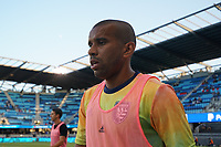 SAN JOSE, CA - AUGUST 17: Judson Silva Tavares #93 of the San Jose Earthquakes before a game between Minnesota United FC and San Jose Earthquakes at PayPal Park on August 17, 2021 in San Jose, California.
