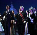 """Michael Benjamin Washington, Darrell Hammond and Carol Kane during the Curtain Call for the closing Night performance of  Encores! """"Call Me Madam"""" at City Center on February 10, 2019 in New York City."""