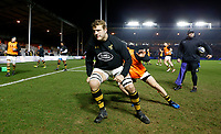 Photo: Richard Lane/Richard Lane Photography. Harlequins v Wasps.  European Rugby Champions Cup. 13/01/2018. Wasps' Joe Launchbury warm up.