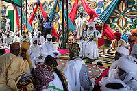 The emir's palace after Friday prayers. Zaria, Nigeria.