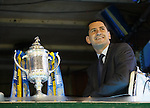 Dundee Utd manager Jackie McNamara watches Rangers progress to face his team in the Scottish Cup