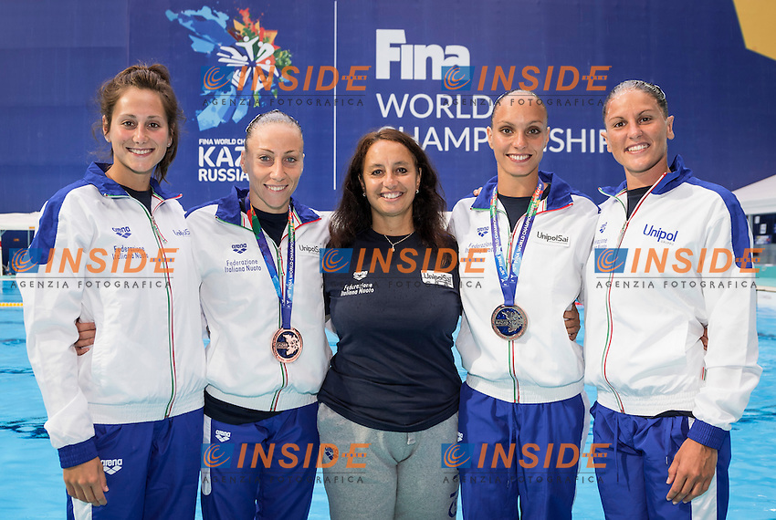 Duet Italy<br /> FLAMINI Manila<br /> FARINELLI Roberta<br /> PERRUPATO Mariangela<br /> Day9 01/87/2015<br /> XVI FINA World Championships Aquatics<br /> Synchro<br /> Kazan Tatarstan RUS July 24 - Aug. 9 2015 <br /> Photo Giorgio Scala/Deepbluemedia/Insidefoto
