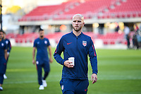 WASHINGTON, D.C. - OCTOBER 11: Michael Bradley #4 of the United States checking out the field conditions prior to their Nations League game versus Cuba at Audi Field, on October 11, 2019 in Washington D.C.