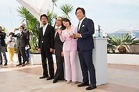 Na Hong-jin - Jun Kunimura - Chun Woo-Hee - Kwak Do-won - 69E FESTIVAL DE CANNES 2016 - PHOTOCALL DU FILM 'GOKSUNG (THE STRANGERS)'