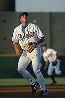 Dallas McPherson of the Rancho Cucamonga Quakes during a game at The Epicenter on July 3, 2003 in Rancho Cucamonga, California. (Larry Goren/Four Seam Images)