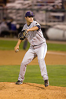 August 24, 2010: Tri-City Dust Devils pitcher Billy Vopinek (20) delivers a pitch against the Everett AquaSox during a Northwest League game at Everett Memorial Stadium in Everett, Washington.