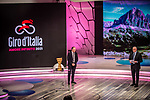 Cordiano Dagnoni, President of the Italian Cycling Federation, and Antonello Orlando at the presentation of the 2021 Giro d'Italia Route in the Rai Studios in Corso Sempione, Milan, Italy. 23rd February 2021.  <br /> Picture: LaPresse/Claudio Furlan | Cyclefile<br /> <br /> All photos usage must carry mandatory copyright credit (© Cyclefile | LaPresse/Claudio Furlan)