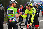 Collin Joyce (USA) Rally Cycling wearing the Green Jersey and Miguel Bryon Holowesko Citadel P/B Arapahoe Resources at the end of Stage 4 of the 2018 Artic Race of Norway, running 145.5km from Kvalsund to Alta, Norway. 18th August 2018. <br /> <br /> Picture: ASO/Gautier Demouveaux | Cyclefile<br /> All photos usage must carry mandatory copyright credit (© Cyclefile | ASO/Gautier Demouveaux)