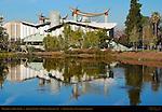 Mastodon, La Brea Tar Pit, Japanese Pavilion, LA County Museum of Art, Hancock Park, Los Angeles, California
