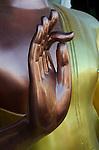 Bronze Sukhothai style Buddha hand statue