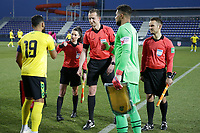 WIENER NEUSTADT, AUSTRIA - MARCH 25: Zack Steffen #1 of the United States takes part in the coin toss before a game between Jamaica and USMNT at Stadion Wiener Neustadt on March 25, 2021 in Wiener Neustadt, Austria.