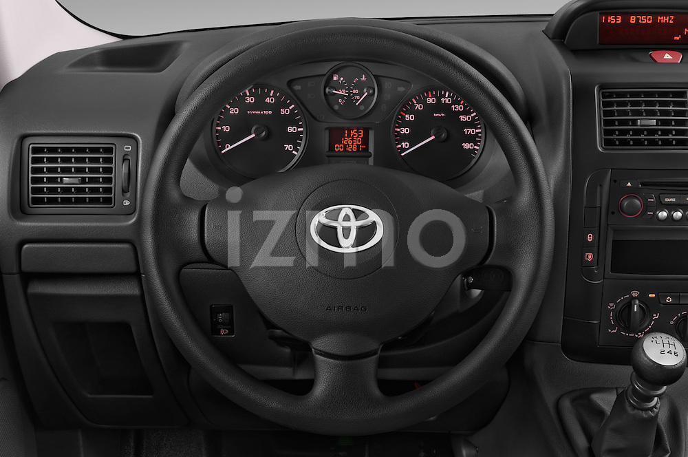 Car pictures of steering wheel view of a 2013 Toyota Proace Comfort 5 Door Cargo Van Steering Wheel