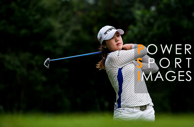 Yea-Lin Kang of Korea in action during the Hyundai China Ladies Open 2014 on December 12 2014 at Mission Hills Shenzhen, in Shenzhen, China. Photo by Li Man Yuen / Power Sport Images
