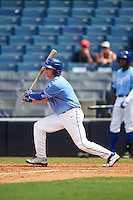 Jake Randa (1) of Shawnee Mission East High School in Mission Hills, Kansas playing for the Kansas City Royals scout team during the East Coast Pro Showcase on August 3, 2016 at George M. Steinbrenner Field in Tampa, Florida.  (Mike Janes/Four Seam Images)