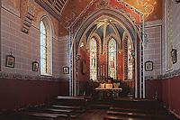 Europe/France/Aquitaine/64/Pyrénées-Atlantiques/Pays-Basque/Hendaye: Chateau d'Abbadia construit en 1870 par  Eugène Viollet-le-Duc pour Antoine d'Abbadie d'Arrast - La Chapellle