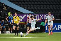 4th April 2021; Paris La Défense Arena, Nanterre, Paris, France; European Champions Cup Rugby, Racing 92 versus Edinburgh;  Try conversion kick from MAXIME MACHENAUD ( 9 - Racing ) -