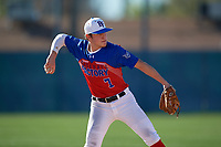 Reese Smith during the Under Armour All-America Pre-Season Tournament, powered by Baseball Factory, on January 19, 2019 at Fitch Park in Mesa, Arizona.  Reese Smith is a second baseman from Denham Springs, Louisiana who attends Denham Springs High School and is committed to Louisiana-Lafayette.  (Mike Janes/Four Seam Images)