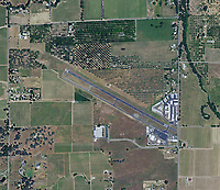aerial map of Lampson Field airport (1O2), Lakeport, Lake County, California