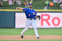 Round Rock Express third base Josh Wilson (2) fields during pacific coast league baseball game, Saturday August 16, 2014 in Round Rock, Tex. Tacoma Rainiers win game one of the best of four series 8-7. (Mo Khursheed/TFV Media via AP Images)
