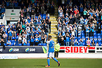 St Johnstone v Ross County…12.05.18…  McDiarmid Park    SPFL<br />Chris Millar applauds the saints fans after playing his last game for the club<br />Picture by Graeme Hart. <br />Copyright Perthshire Picture Agency<br />Tel: 01738 623350  Mobile: 07990 594431