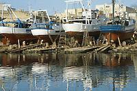 - repair of fishing boats in a shipyard of Mazara del Vallo....- pescherecci in riparazione in un cantiere navale di Mazara del Vallo