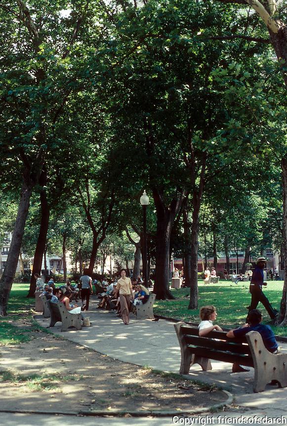 Philadelphia: View of Rittenhouse Square. Photo '76.