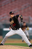 April 14, 2010:  Ethan Hollingsworth of the Modesto Nuts during game against the Rancho Cucamonga Quakes at The Epicenter in Rancho Cucamonga,CA.  Photo by Larry Goren/Four Seam Images