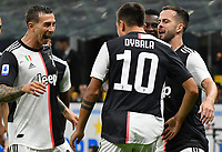 Paulo Dybala of Juventus celebrates after scoring the goal of 0-1 <br /> Milano 6-10-2019 Stadio Giuseppe Meazza <br /> Football Serie A 2019/2020 <br /> FC Internazionale - Juventus FC <br /> Photo Andrea Staccioli / Insidefoto