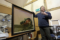 Pictured: Anthony Plant of the Sidney Nolan Trust, in the exhibition area Friday 02 December 2016<br /> The Sidney Nolan Trust, Rodd, Herefordshire, England, UK