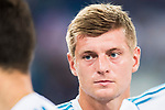 Toni Kroos of Real Madrid looks on after the Santiago Bernabeu Trophy 2017 match between Real Madrid and ACF Fiorentina at the Santiago Bernabeu Stadium on 23 August 2017 in Madrid, Spain. Photo by Diego Gonzalez / Power Sport Images