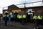 Police in attendance at the turnstiles at Somerset Park