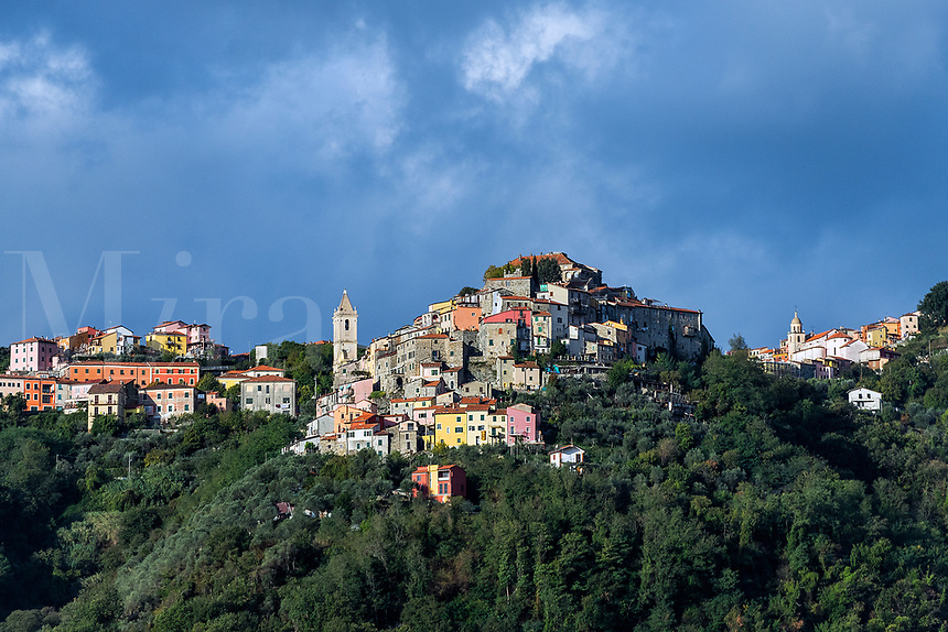 Charming hilltop village, Liguria, Italy.