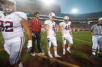 TEMPE, AZ - November 13, 2010: Josh Childress, Sione Fua, Ryan Whalen and Owen Marecic during a football game at Arizona State University in Tempe, Arizona. Stanford won 17-13.