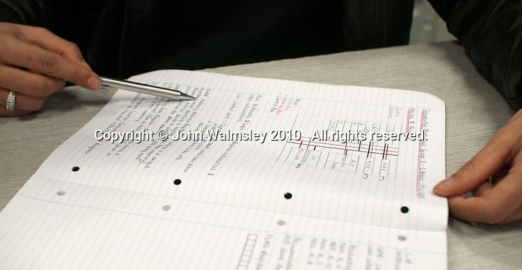 Student's notebook, Computer Studies class, Kingston College.