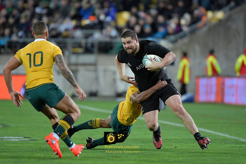 All Blacks' Dane Coles in action during the All Blacks v Wallabies. The Rugby Championship & Bledisloe Cup at Westpac Stadium, Wellington, New Zealand on Saturday 27 August 2016.<br /> Photo by Masanori Udagawa. <br /> www.photowellington.photoshelter.com.