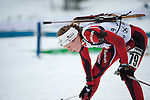 MARTELL-VAL MARTELLO, ITALY - FEBRUARY 02: GURIGARD Vilde Ravnsborg (NOR) after the Women 7.5 km Sprint at the IBU Cup Biathlon 6 on February 02, 2013 in Martell-Val Martello, Italy. (Photo by Dirk Markgraf)