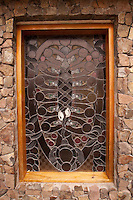 Stained Glass Window at Chapel, Turtle Island, Yasawa Islands, Fiji