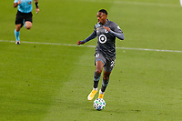 ST PAUL, MN - SEPTEMBER 9: Mason Toye #23 of Minnesota United FC dribble the ball during a game between FC Dallas and Minnesota United FC at Allianz Field on September 9, 2020 in St Paul, Minnesota.