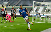 1st November 2020; St James Park, Newcastle, Tyne and Wear, England; English Premier League Football, Newcastle United versus Everton; Dominic Calvert-Lewin of Everton celebrates scoring in 90+1 minute against Newcastle to make it 2-1