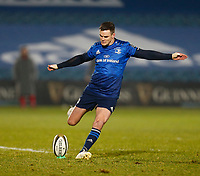 8th January 2021; RDS Arena, Dublin, Leinster, Ireland; Guinness Pro 14 Rugby, Leinster versus Ulster; Johnny Sexton (c) of Leinster attempts to add three points with a penalty a kick