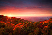 Sunrise over the proposed Grandfather National Scenic Area, Blue Ridge Parkway, North Carolina