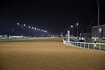 MEYDAN,DUBAI-MARCH 24: Dirt track last stretch at Meydan Racecourse on March 24,2016 in Meydan,Dubai (Photo by Kaz Ishida)