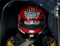 Aug 31, 2014; Clermont, IN, USA; NHRA funny car driver Tony Pedregon during qualifying for the US Nationals at Lucas Oil Raceway. Mandatory Credit: Mark J. Rebilas-USA TODAY Sports