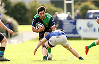Saturday 10th October 2020 | Ballynahinch vs Queens<br /> <br /> Harry McCormick on the attack during the Energia Community Series clash between Ballynahinch and Queens at Ballymacarn Park, Ballynahinch, County Down, Northern Ireland. Photo by John Dickson / Dicksondigital