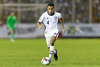 SAN SALVADOR, EL SALVADOR - SEPTEMBER 2: Tyler Adams #4 of the United States moves with the ball during a game between El Salvador and USMNT at Estadio Cuscatlán on September 2, 2021 in San Salvador, El Salvador.