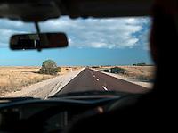Driving through the Eyre Peninsula, South Australia, Australia