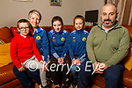 Ella Moynihan with her family at home on Monday evening. L to r: Ben, Majella, Ella, Brian and Sophie Moynihan.