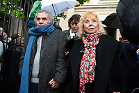 guest - Les obseques du  chanteur nicois Dick Rivers a l'eglise Saint-Pierre de Montmartre a Paris.<br /> isabelle AUBRET<br /> © URMAN/DALLE