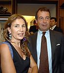ANNA CHIMENTI CON CARLO VERDELLI<br /> APERTURA STORE FAY A FONTANELLA BORGHESE ROMA 10/2008